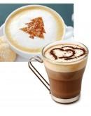 أشكال بلاستيكية جميلة لتزيين مشروب القهوة