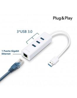 TP-LINK USB 3.0 3-Port Hub & Gigabit Ethernet Adapter 2 in 1 USB Adapter UE330