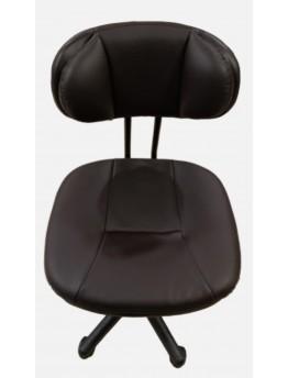 كرسي مكتب دوار جلد بني