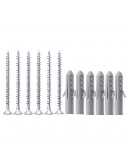 FIXA 12-piece screw and plug set