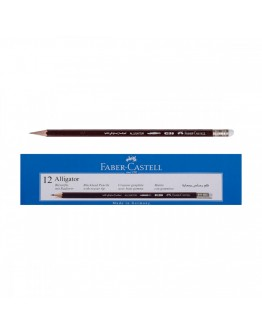 Faber Castell Alligator Blackled Pencils with eraser tip 12 count - 5766