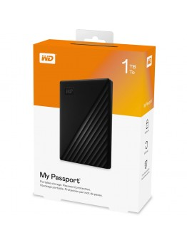 WD 1TB MY PASSPORT PORTABLE USB3.2 GEN1 HARD DRIVE - BLACK - 9469