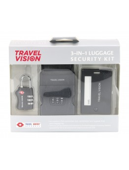 Travel Vision 3 in 1  Luggage Security Kit - 3622