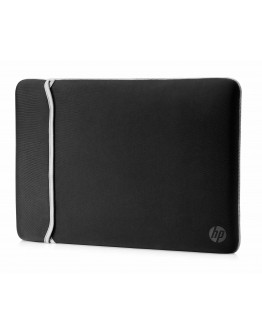 HP Neoprene 15.6 Inch Reversible Laptop Sleeve - Black and Silver - 9209