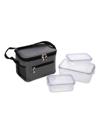 ALBERTO 3 PIECES PLASTIC FOOD SAVER SET WITH GREY BAG