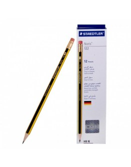 Staedtler Noris HB 122 Pencil with Rubber Tip - 2556