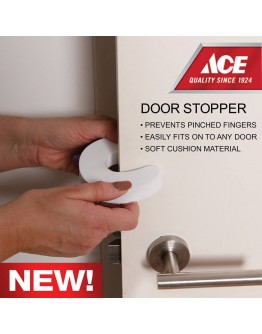 Ace Safety Door Stopper (White)