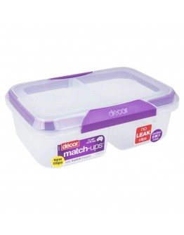Décor Plastic Food Container devided 2 in1 base 2L split - 8423