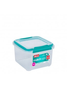 Decor® Match-Ups® Clips 47.3 oz. Square Food Storage Container in Teal - 1409