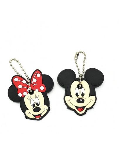 2Pcs/set Cute Cartoon Minnie Mouse & Miki Mouse Key Cover