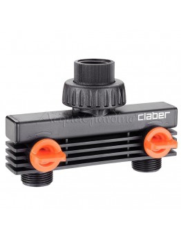 "Claber 3/4"" male threaded two-way adapter"