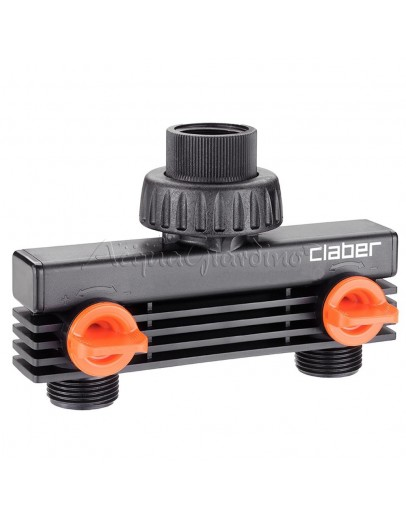 """Claber 3/4"""" male threaded two-way adapter"""