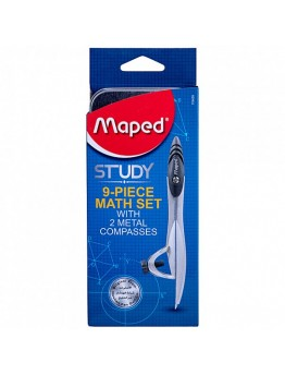 Study Geometry Set 9Pc By Maped, Md-119459