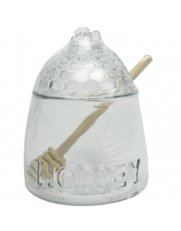 Alberto Glass Honey Jar With Dipper