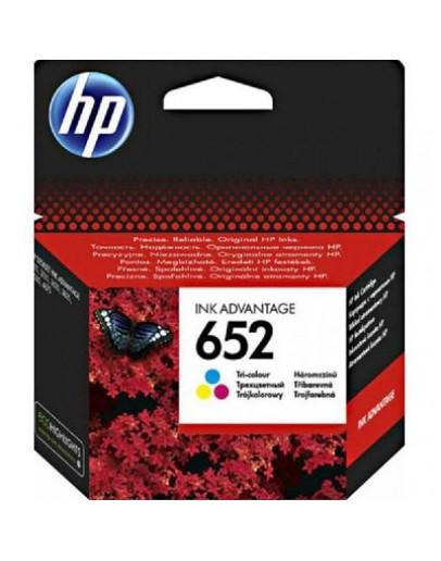 HP 652 Tri-colour Inkjet Cartridge - 0908