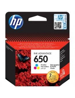 HP 650 Tri-Colour Inkjet Cartridge - 2442