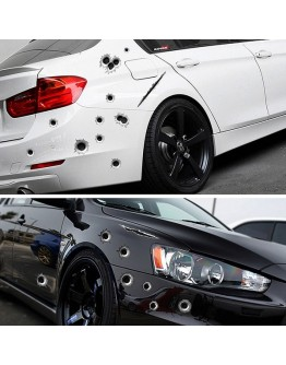 Car Side Stickers 3D Bullet Hole