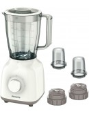 Philips HR2113 Daily Collection Blender, 1.5 L Plastic Jar, with 2 Sets of mini Chopper, 5-Star Serrated Blade - 1506