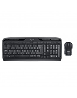 Logitech MK330 Wireless Combo Keyboard and Mouse, USB, English/Arabic layout - Black