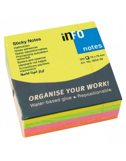 Info Notes Sticky Notes Multi-Color 75x75mm - 4399