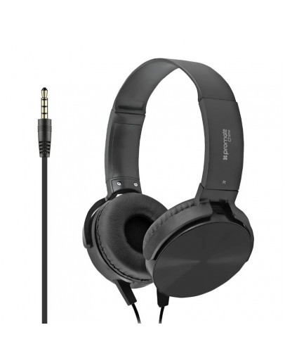 Promate Chime Over-Ear Stereo Headset With Mic Black