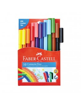 Faber-Castell Fiber tip pens 10 Colours for Drawing and Coloring - 9104