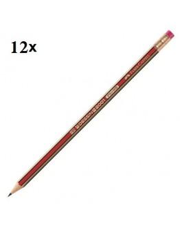 Faber-Castell 12x Dessin 2001 Eraser-Tipped Pencil - 3120