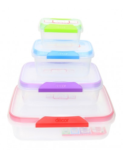 Decor Match-Ups Assorted Food Storage Container Set 8 pcs