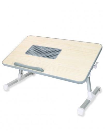 Wooden Comfort Laptop Desk, Adjustable With a Buildin Fan