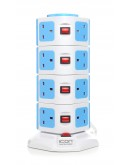 Icon Portable Multiple Socket-Outlet 15 outlets & 2 USB Ports, Blue - 4108