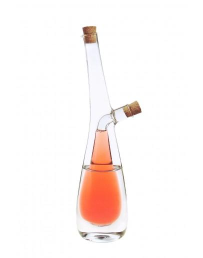 Alberto One in Two Oil & Vinegar Cruet Bottle - 250ml outer & 90ml inner - 9183