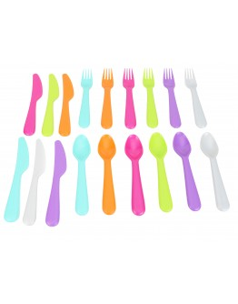 Alberto Kids Dineit 18 Pack Cutlery Set 6x Forks 6x Knifes 6x Spoons