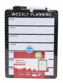 White Magnetic board, Weekly Planner 28x22cm