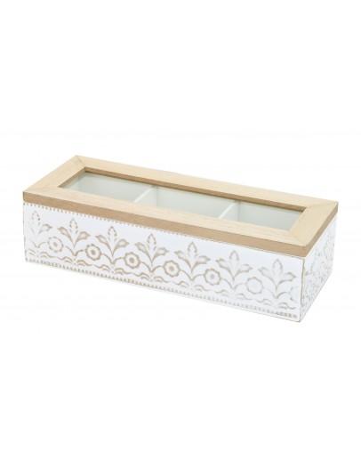 Tea Box Glass 24*9*6cm