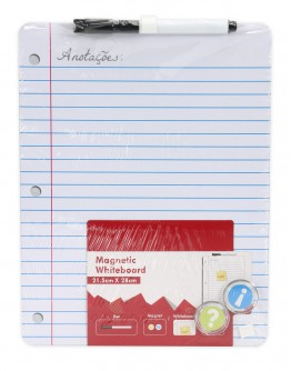 White Magnetic board 28x22cm Writing Pad A4