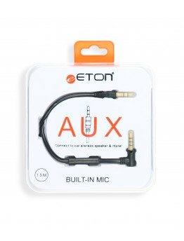 Eton Aux Connect to car stereos, speakers & more with built in mic 1.5m