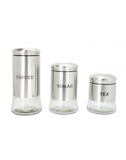 Alberto 3 PCS Set Storage Jars - 3066