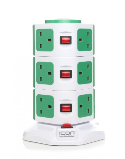 Icon Portable Multiple Socket-outlet 3 outlets & 2 USB Ports