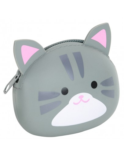 Silicone Case for Coins Storage Cat