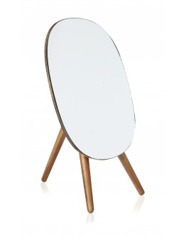 Vanity Mirror With 1x Glass Size 18x14cm Acacia Support - 1747