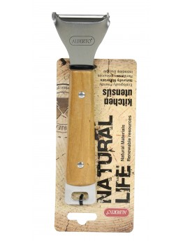 Alberto Slicer with a Natural Wooden Handle - 0787