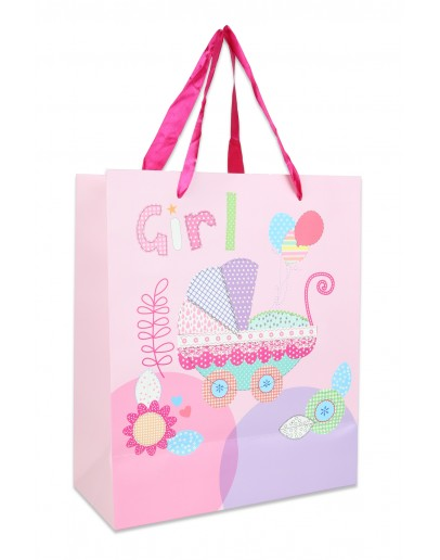 Divina Pink Large Bag for Girls 25x12x30cm