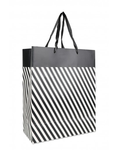 Divina Small Dashed bag, black and white 18x10x23cm