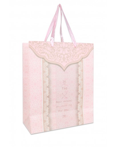 Divina Decorated Pink bag (Large Size) 26x12x32cm