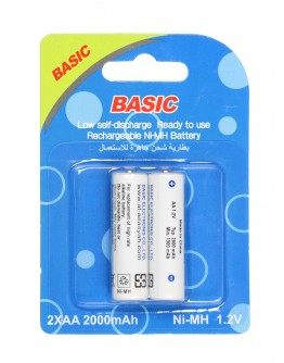 Basic Rechargeble NI-MH Battery 2000mAh AA