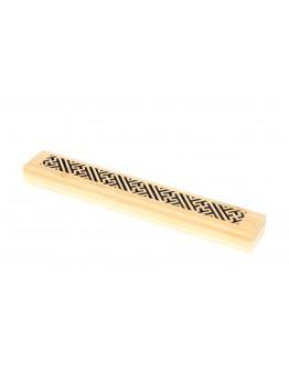 مبخرة مستطيلة طويلة مصنوعة من الخيرزان مع صوف مقاوم للنار 23.5x3.5x2