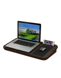Knee Laptop Desk With Cushion Brown 56x7x30.5 centimeter