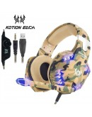KOTION EACH G2600 Over-Ear Gaming Headset Green/Brown/Beige