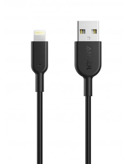PowerLine II Lightning Cable Black 3 feet - 1088