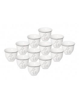 La Mesa12-Piece Coffee Cup Set White 90 ml - 4610